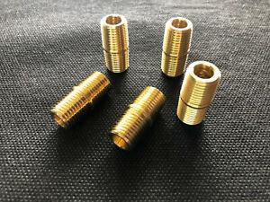 """Gas Water Oil Brass Pipe Nipple 3//8/"""" Male NPT  X 1//4/"""" Male NPT Fitting  Fuel"""
