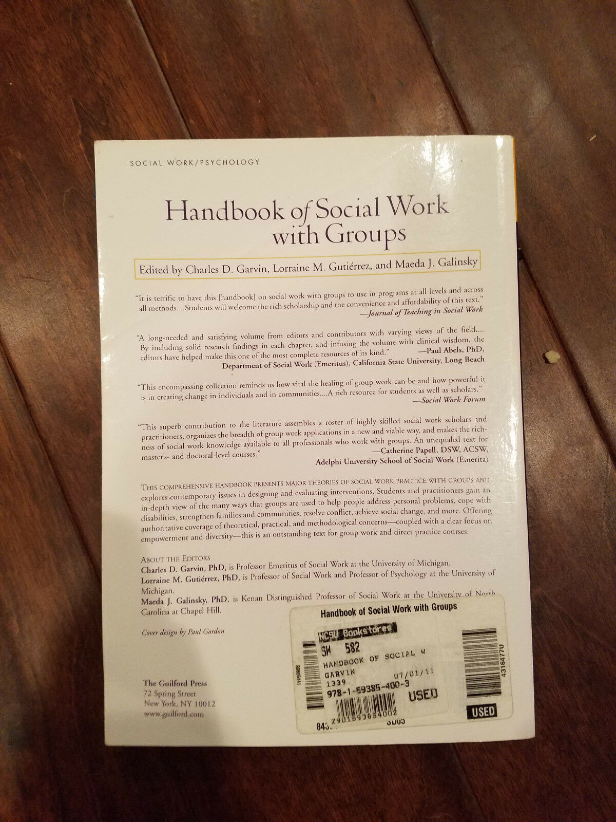 Handbook of Social Work with Groups (2006, Paperback)