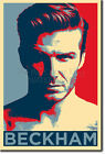 DAVID BECKHAM ART PHOTO PRINT (OBAMA HOPE) POSTER GIFT SOCCER