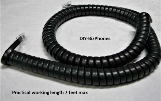 Charcoal Gray 12ft Phone Handset Cord Aastra PT390 TalkSwitch PowerTouch Altigen