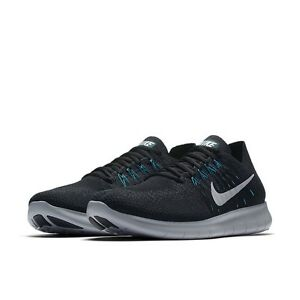 04e9752e8d3d Nike Men s Free RN Flyknit 2017 Anthracite Turbo Green 880843-008 Sz ...