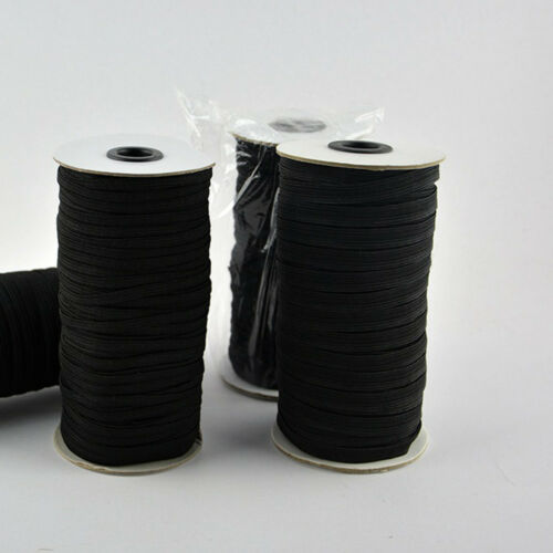 100 yards Braided Elastic Band Cord Knit 5 mm Stretch DIY Sewing In Stock