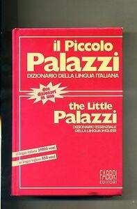 IL-PICCOLO-PALAZZI-DIZIONARIO-LINGUA-ITALIANA-ESSENZIALE-DI-INGLESE-Fabbri-Libro