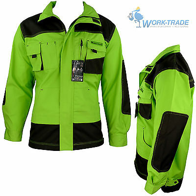 Arbeitsjacke Jacke Arbeitskleidung Schutzjacke LH Hellgrün Braun Gr.M - XXXL NEU