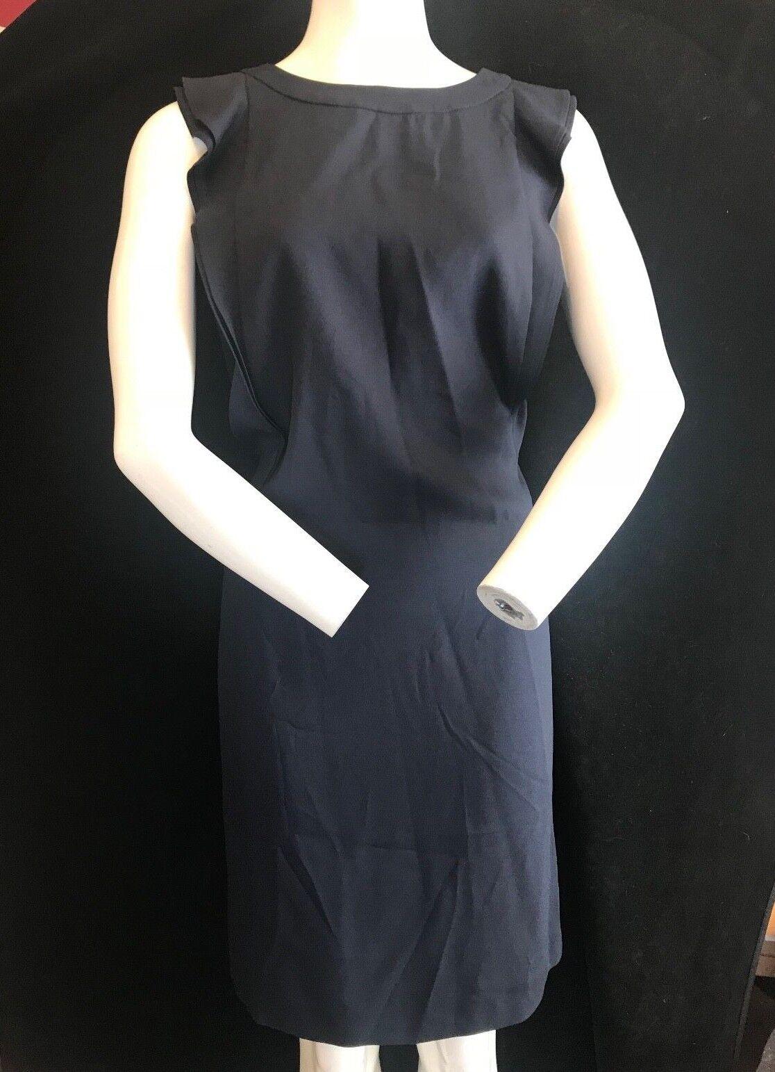 BNWT MARELLA Stylish Basco Crepe Ruffle Detail Shift Dress RRP
