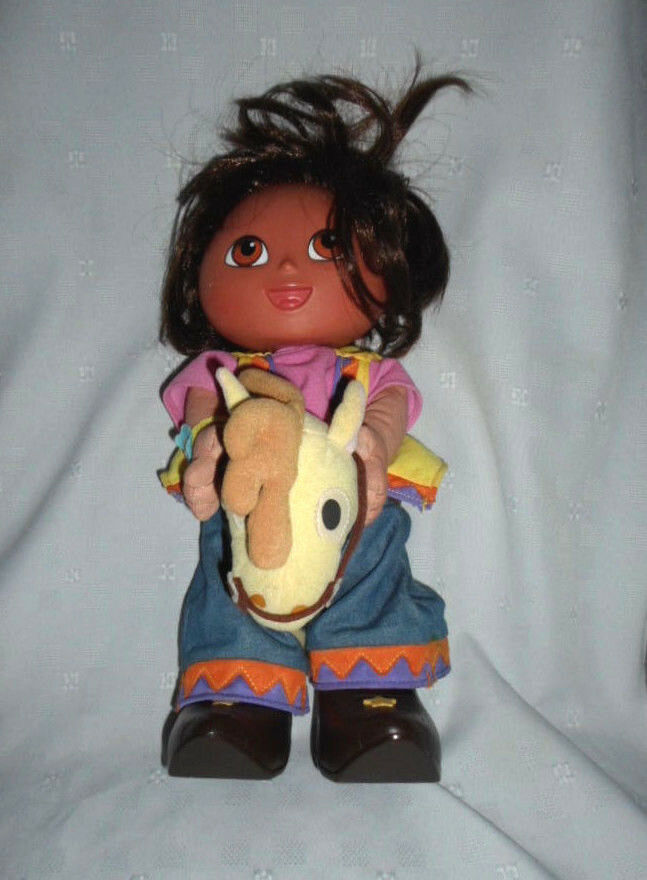 Dora the Explorer Cowgirl Talking Sing Doll 13  Plush Soft Toy Stuffed Animal