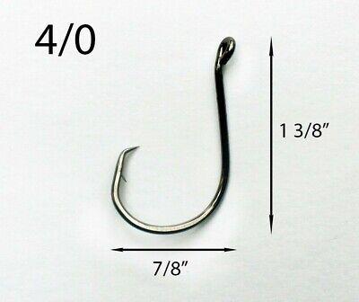1000 BULK Size 4//0 Custom Offshore Tackle Offset Circle Fishing Hooks 7384