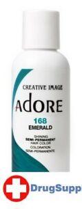 BL Adore Semi-Permanent Haircolor #168 Emerald 4 oz - THREE PACK