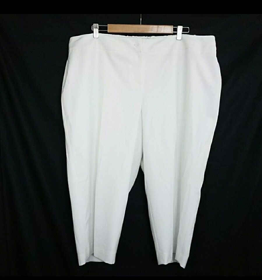 Talbots Womens White Cropped Capri Pants New Size 22WP
