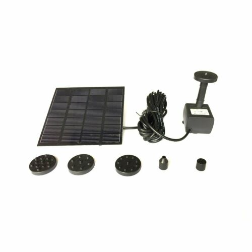 Solar Panel Powered Submersible Floating Fountain Garden Pool Pond Water Pump yg