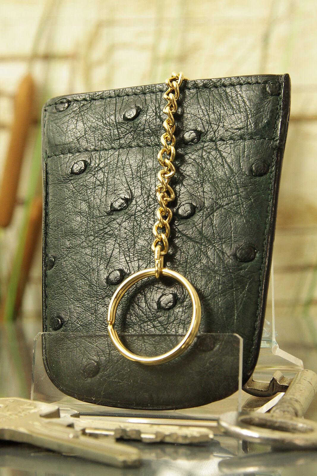 KRALLE  Schlüssel Etui, Straußen-Leder. Key case, ostrich-skin, NEW  ü3033  | Angemessene Lieferung und pünktliche Lieferung