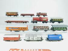 AZ384-2# 12x Liliput/Roco/Kleinbahn H0/DC Güter-/Personenwagen, Bastler/ 2. Wahl