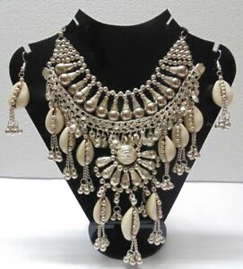 VINTAGE-STYLE-ARTISAN-HANDCRAFTED-NECKLACE-KUCHI-TRIBAL-BELLY-DANCE-GYPSY-NEW