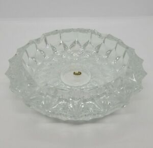 """Vintage Rossini Crystal Cut Ashtray. 7"""" across x 2"""".High Made in West Germany"""