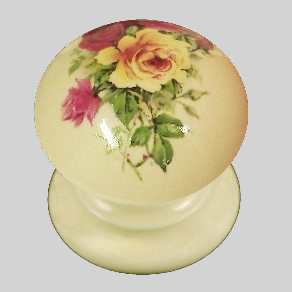 Paquete De 10 De x Crema Porcelana/Perillas Cajón De Armario De 10 China Christina 30 mm ef05b0
