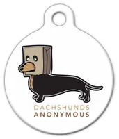 Dachshunds Anonymous - Custom Personalized Pet Id Tag For Dog And Cat Collars