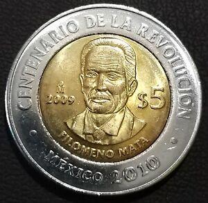 5-pesos-Mexico-2009-km-907-UNC-Filomeno-Mata