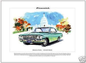 American Classics - CHEVROLET IMPALA '61 - Fine Art Print - SS Super Sport model