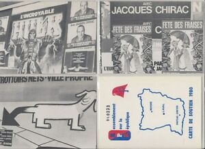LE SILLON POLITIC FRANCE ANTI CHIRAC RPR 10 Modern Postcards