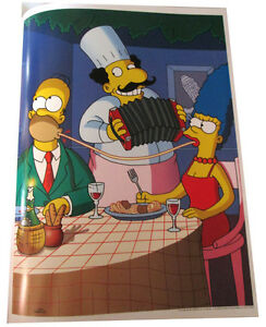 "SIMPSONS FOX TV SHOW MINI POSTER 2007 14/""X10 1//2/"" FAMILY PUZZLE MOSAIC DESIGN"