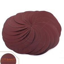 25pcs 7inch 320# Sandpaper Sanding Discs Sheets  Hook And Loop Rotary Tool NEW