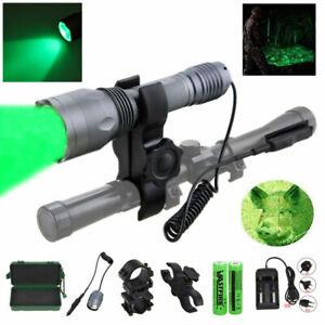 400 Yard Red Green Light Predator Light Long Range Night Hunting Light Gun Mount