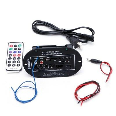 30W Bluetooth Car Subwoofer Hi-Fi Bass Amplifier Board Audio TF USB 220V/12V/24V