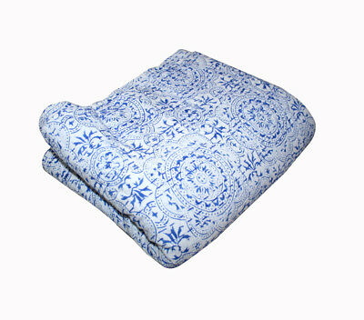 Bedding Industrious Handmade Trapunta Vintage Kantha Indiano Lenzuola Letto Coperta Di Cotone