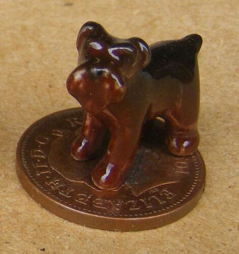 1:12 Scale Small Brown Ceramic Puppy Dog Tumdee Dolls House Garden Ornament M