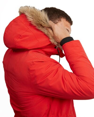 Chaqueta con sintética Parka invierno cálido Scott Lyle piel y forro de capucha polar Abrigo de largo de rgrqtPw