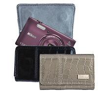 Genuine Nikon Faux Crocodile Skin Leather Carrying Case Bag For Digital Cameras