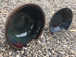 Handmade-Pottery-Bowls-Drip-Glaze