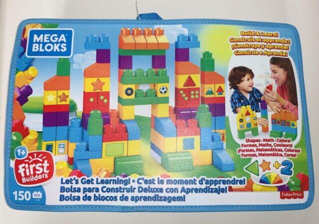MEGA BLOKS Let's Get Learning Building Set 150 pieceBig Building Bag