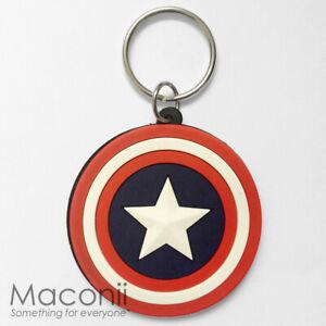 Captain-America-Logo-Keyring-Shield-Marvel-Avengers-Super-Hero-Charm-Strap