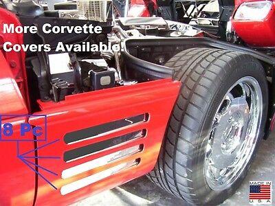 Corvette C4 1991-1994 8 Pc FENDER GILL COVERS SPIKE DESIGN Stainless steel