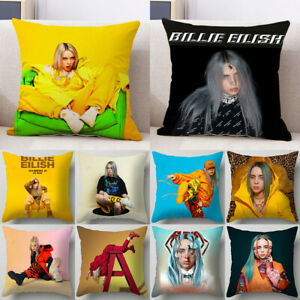 Home-Decor-Billie-Eilish-Pillowcase-Sofa-Car-Colorful-Pillow-Case-Cushion-Cover