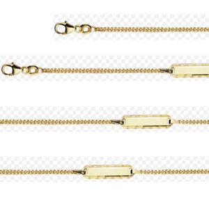 Details Zu Armkette Echt Gold 750 Baby Geburt Taufe Name Datum Gravur Armband 18 Kt
