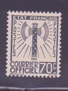 FRANCE-STAMP-TIMBRE-DE-SERVICE-N-5-034-FRANCISQUE-70c-GRIS-NOIR-034-NEUF-x