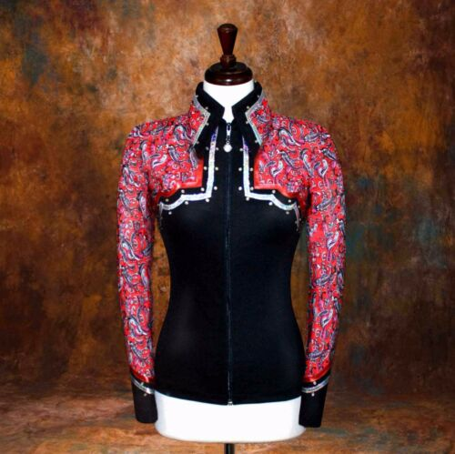 LARGE  Western Showmanship Pleasure Horsemanship Show Jacket Shirt Rodeo Queen