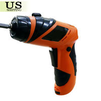 6v Screwdriver Battery Operated Cordless Power Electric Drill Tool W/ Mini Lamp