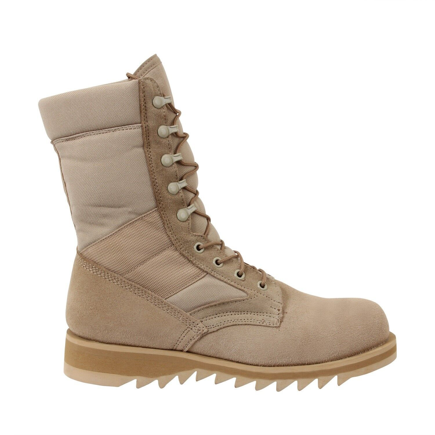 Ripple Sole Tactical Hot Weather MILITARY DESERT BOOTS SIZES 5 to13 Reg or Wide