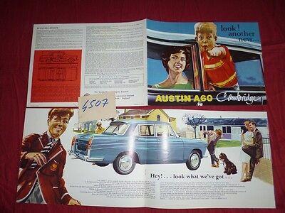 N°4507 / Austin A60 Cambridge Catalogue English Text Berline 1962 Environ