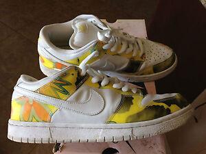 best sneakers c8845 1203c NIKE RARE DUNK LOW PRO SB WHITE/ YELLOW DE LA SOUL'S MEN'S ...