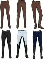 Sale | Hkm Ladies Stretch Breeches | 3/4 Grip Belmtex Seat | Uk 8 - Plus Size 28