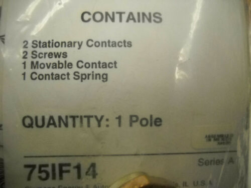 FURNAS SIEMENS 75IF14 REPLACEMENT 1 POLE CONTACT KIT SIZE 3-1//2  NEW CONDITION