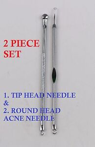 2-PCS-BLACKHEAD-EXTRACTOR-SET-NOSE-COMEDONE-PORE-PIMPLE-BLEMISH-NEEDLE-REMOVER