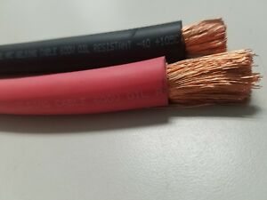 1-0-AWG-WELDING-CABLE-WIRE-COPPER-BATTERY-SOLAR-RED-3-FEET-BLACK-3-feet