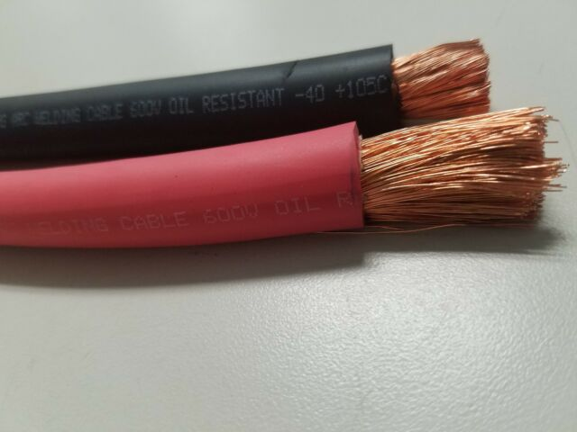 75/' FT 1//0 AWG WELDING//BATTERY CABLE YELLOW 600V MADE IN USA COPPER EPDM JACKET