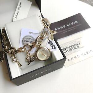 Anne-Klein-Watch-7604CHRM-Gold-Tone-Swarovski-Charm-for-Women-COD-PayPal