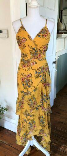 Lulus Chiffon Floral High Low Sun Dress Size XL